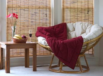 Hattiesburg woven wood shades